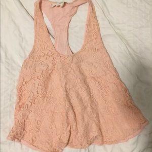 Blush pink lace top